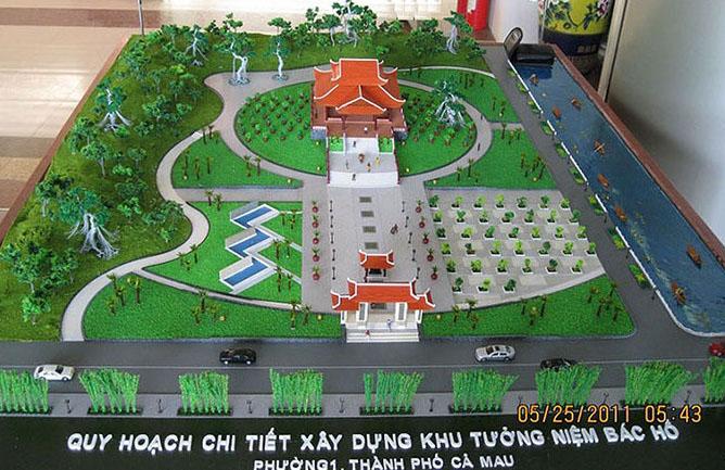 Khu tưởng niệm Bác Hồ TP Cà Mau - Chủ đầu tư: Cty CP dầu khí Cửu Long